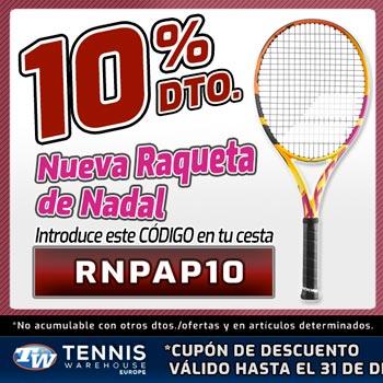 La nueva raqueta de Nadal, Babolat Pure Aero Rafa, al mejor precio