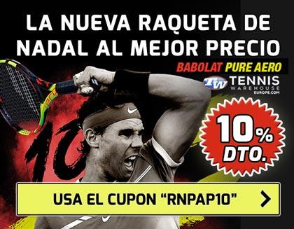 La nueva raqueta de Nadal, Babolat Pure Aero Decima, al mejor precio