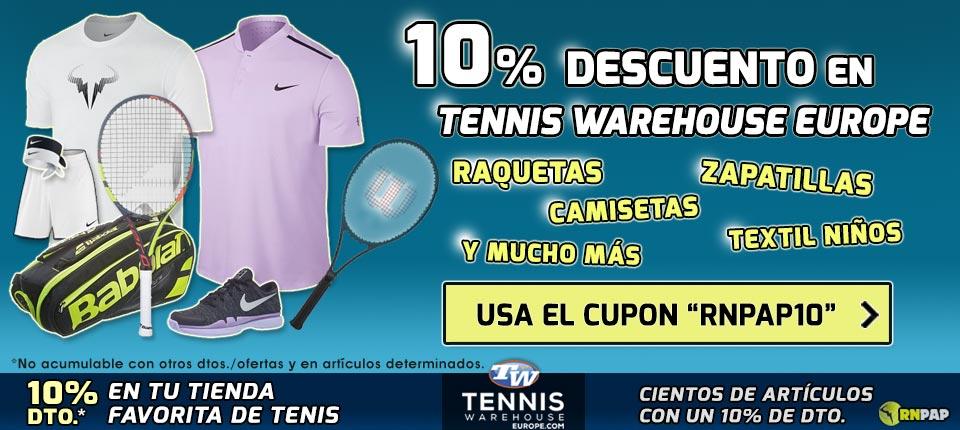 Código Descuento en Tennis Warehouse Europe