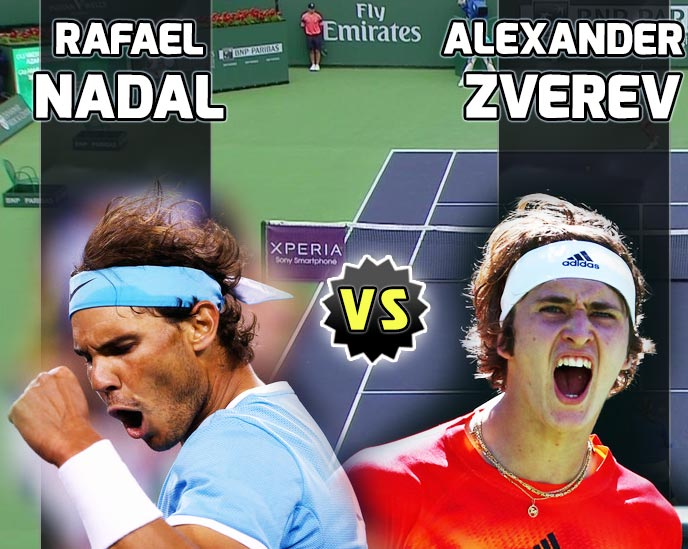Nadal vs Zverev en Indian Wells 2016