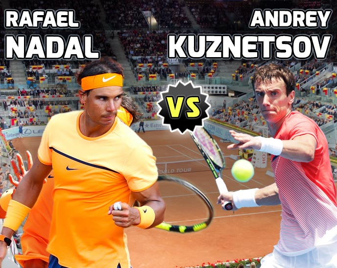 Nadal vs Kuznetsov en Madrid 2016