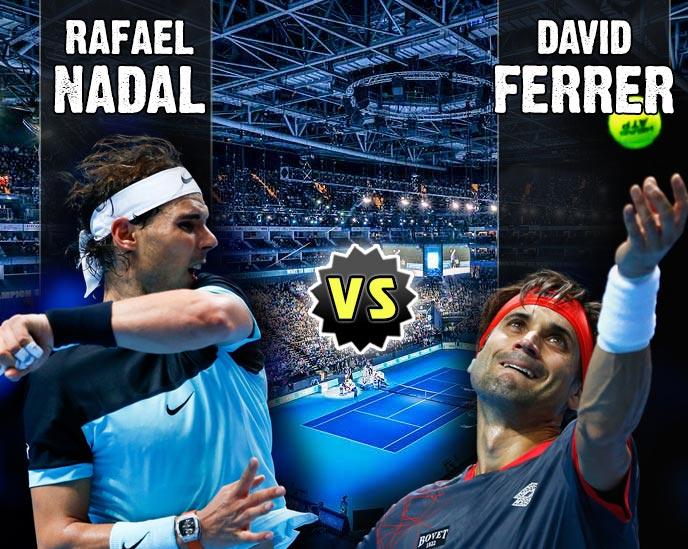 Nadal vs Ferrer en Torneo Maestros 2015