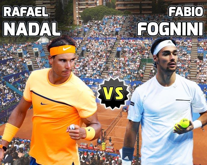 Nadal vs Fognini en Barcelona 2016