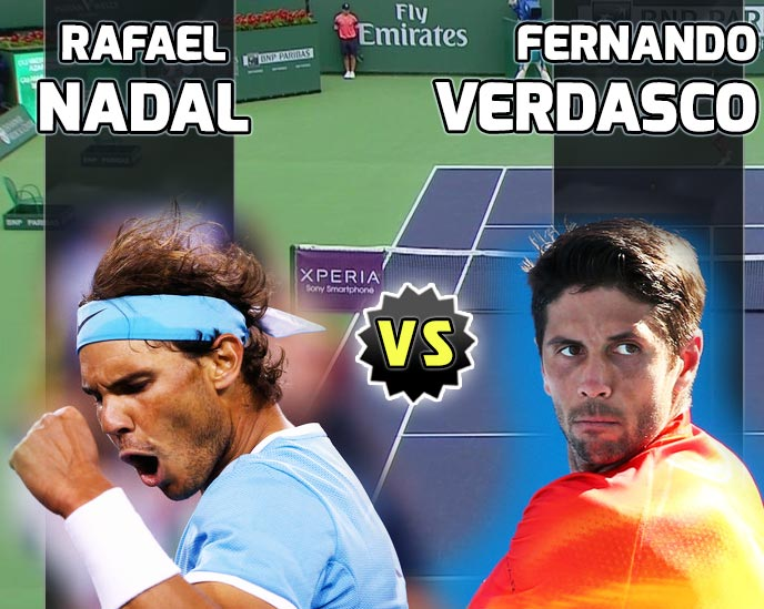 Nadal vs Verdasco en Indian Wells 2016