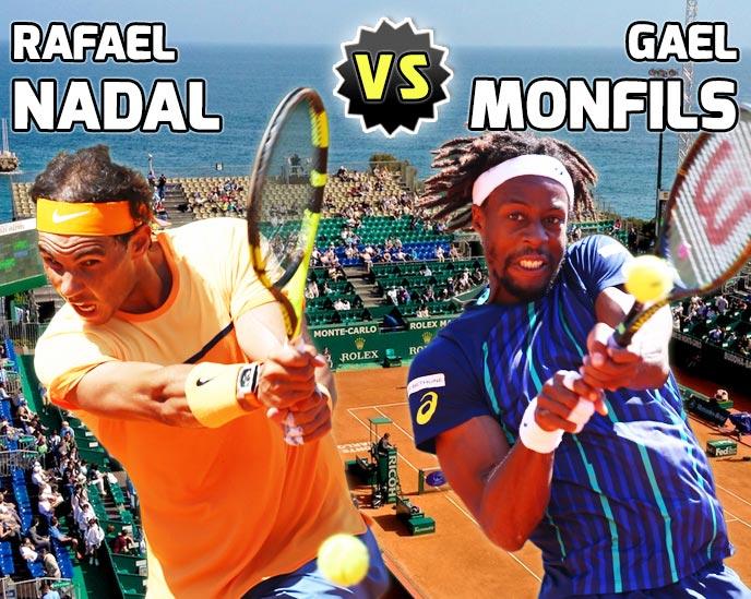 Nadal vs Monfils en Montecarlo 2016