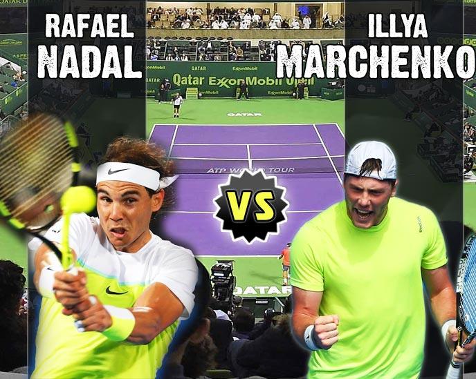 Nadal vs Marchenko en Doha 2016