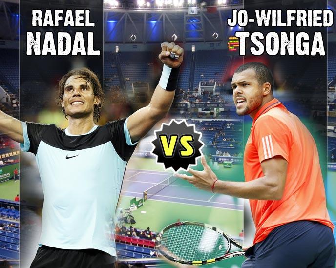 Nadal vs Tsonga en Shanghai 2015