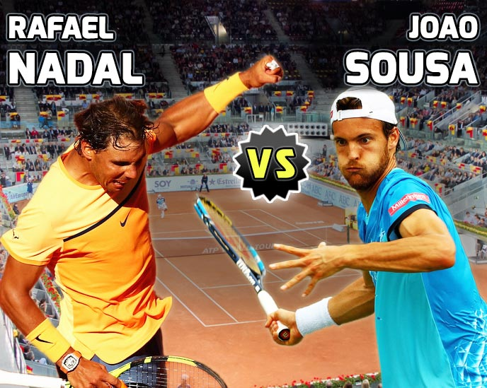 Nadal vs Sousa en Madrid 2016