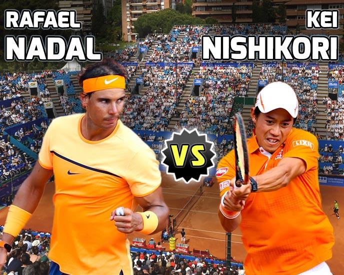 Nadal vs Nishikori en Barcelona 2016
