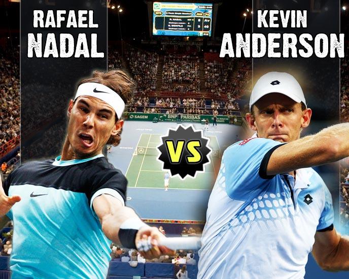 Nadal vs Anderson en Paris 2015