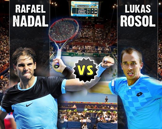 Nadal vs Rosol en Paris 2015