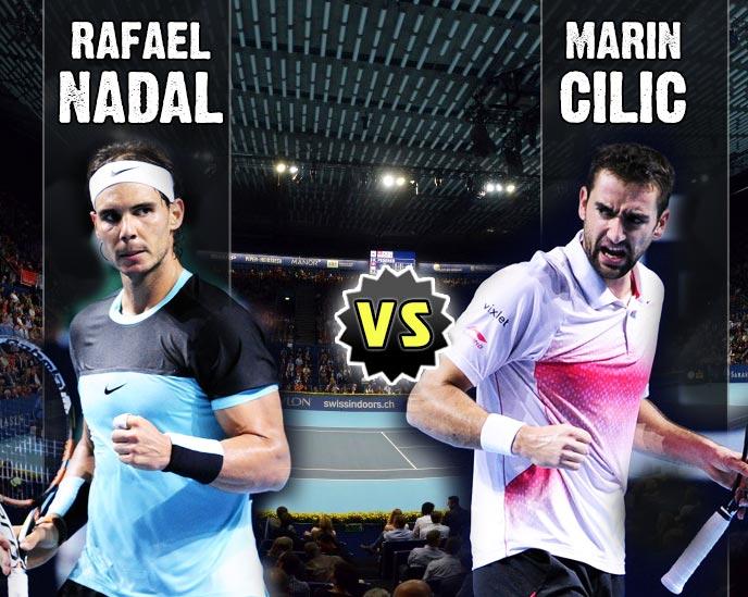 Nadal vs Cilic en Basel 2015