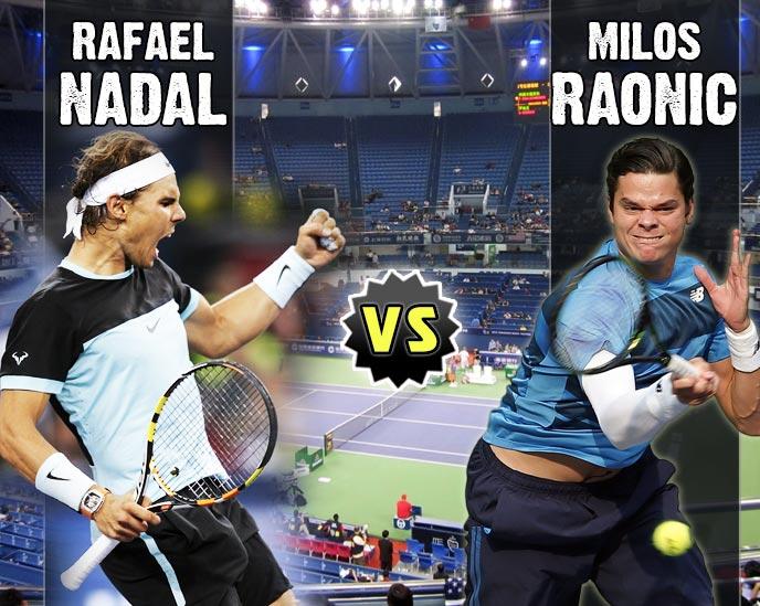Nadal vs Raonic en Shanghai 2015