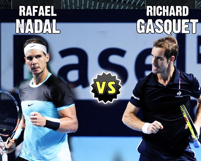 Nadal vs Gasquet en Basel 2015