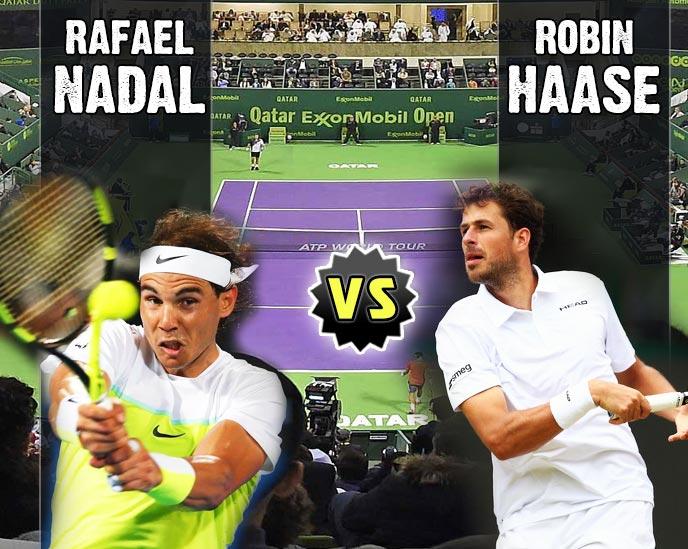 Nadal vs Haase en Doha 2016
