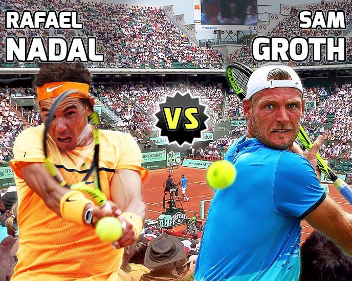 Nadal vs Groth en Roland Garros 2016