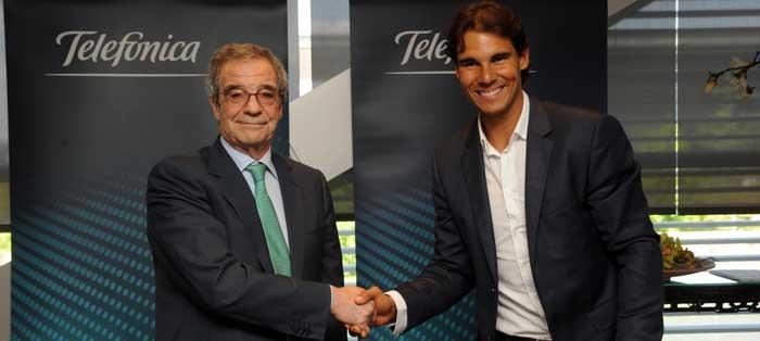 Rafa Nadal será el nuevo embajador de Telefónica hasta el año 2010