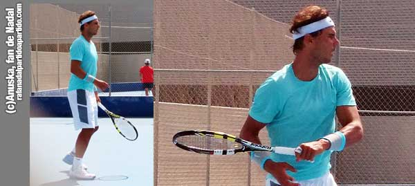 Rafa Nadal en sesión de entrenamiento en Manacor - 21 de Julio 2014 - Copyright Anuska, fan de Rafa