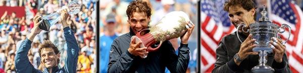 Rafa Nadal fue campeón en los Masters 1000 de Montreal y Cincinnati 2013 y en US Open 2013