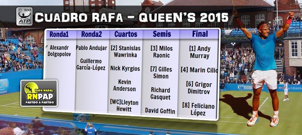 El cuadro de Queens 2015 para Rafa Nadal
