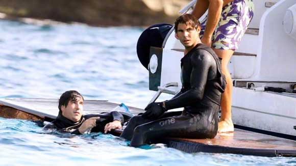 Rafa Nadal practicando snorkel en sus vacaciones en Ibiza - Julio 2015