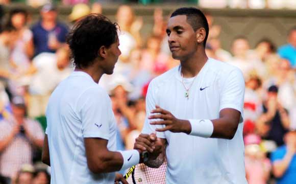Kyrgios y Nadal jugaran un partido de exhibicion