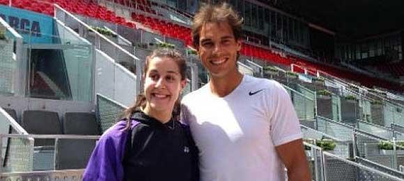 La campeona de badminton Carolina Marin, elogiada por Rafa Nadal