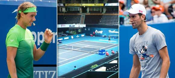 Exhibicion Nadal-Djokovic en Tailandia