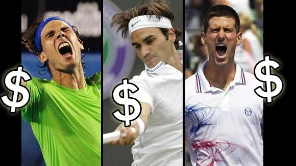 Federer-Djokovic-Nadal, tenistas mejor pagados en 2015