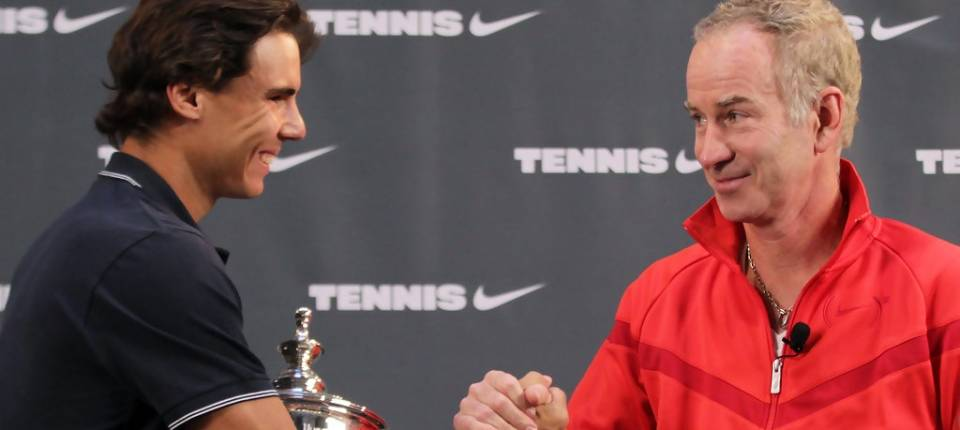 Nadal con McEnroe después que el balear se proclamase campeón del US Open 2010
