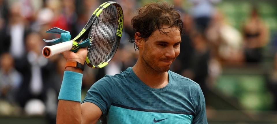 Rafa Nadal durante un instante del partido contra Facundo Bagnis en Roland Garros 2016