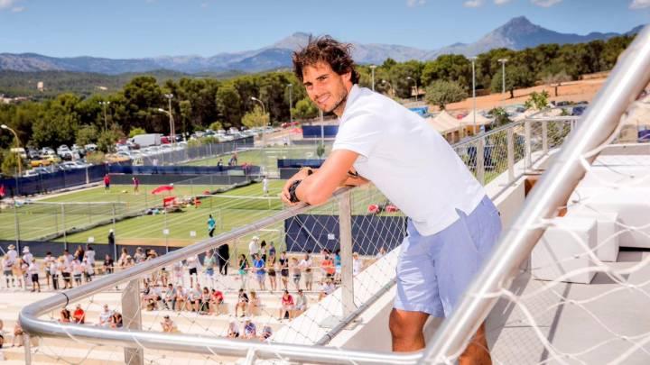 Rafael Nadal en su visita al torneo WTA Mallorca Open