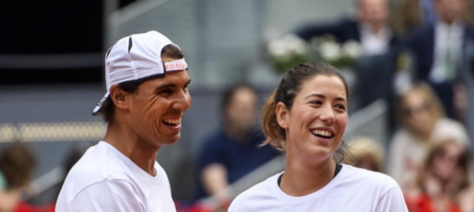 Rafael Nadal y Garbiñe Muguruza en el pasado Masters 1000 de Madrid 2016