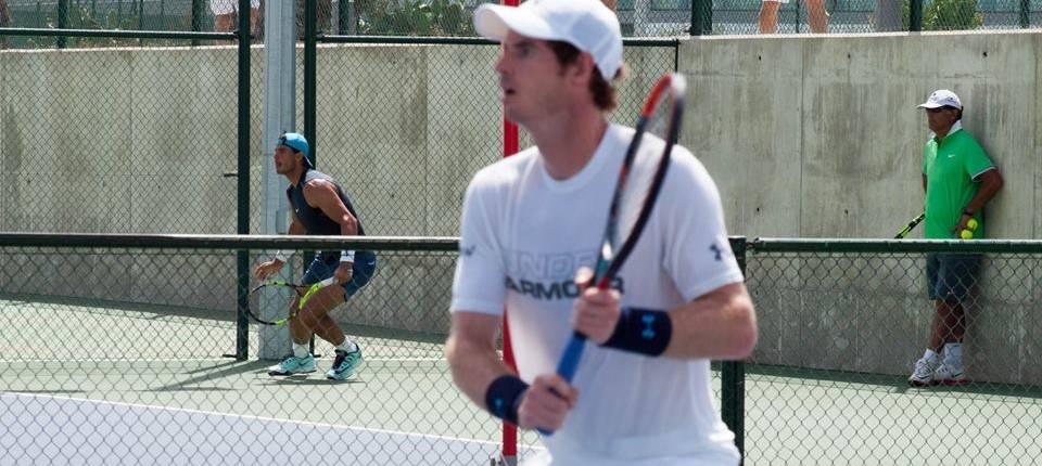 Nadal y Murray entrenando en la Academia de Rafa Nadal en Manacor - Julio 2016