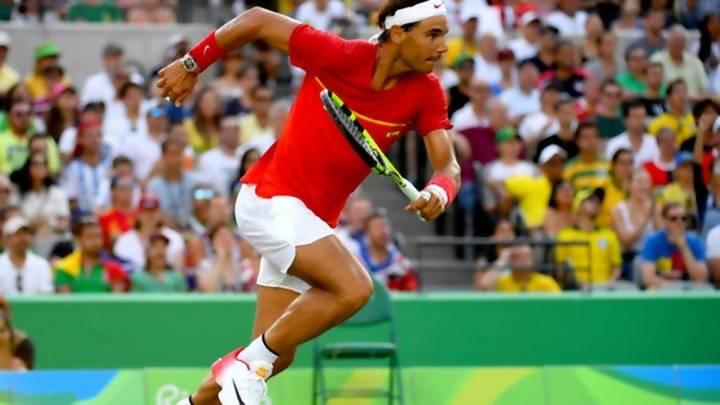 Nadal se mostró eléctrico de piernas en el dobles olímpico de Río en los cuartos de final (C) USA Today