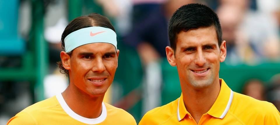 Nadal y Djokovic durante la semifinal del Masters 1000 de Montecarlo 2015