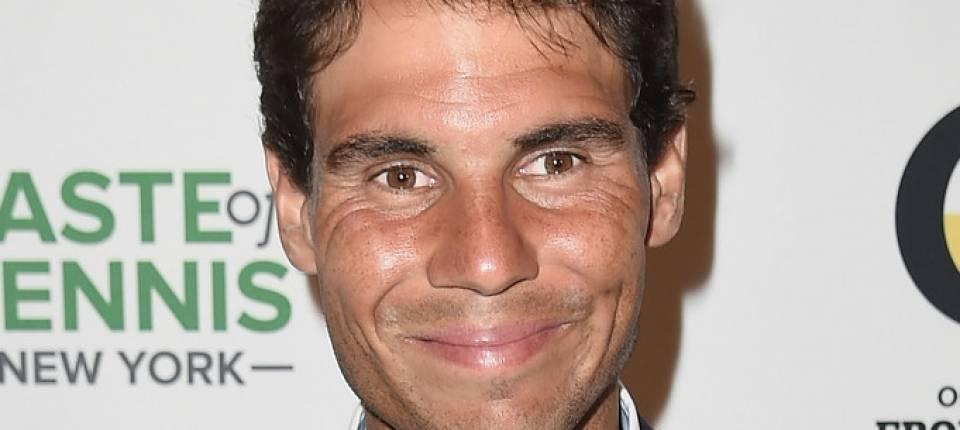 Rafael Nadal posando para un evento promovido por Taste of Tennis en Nueva York