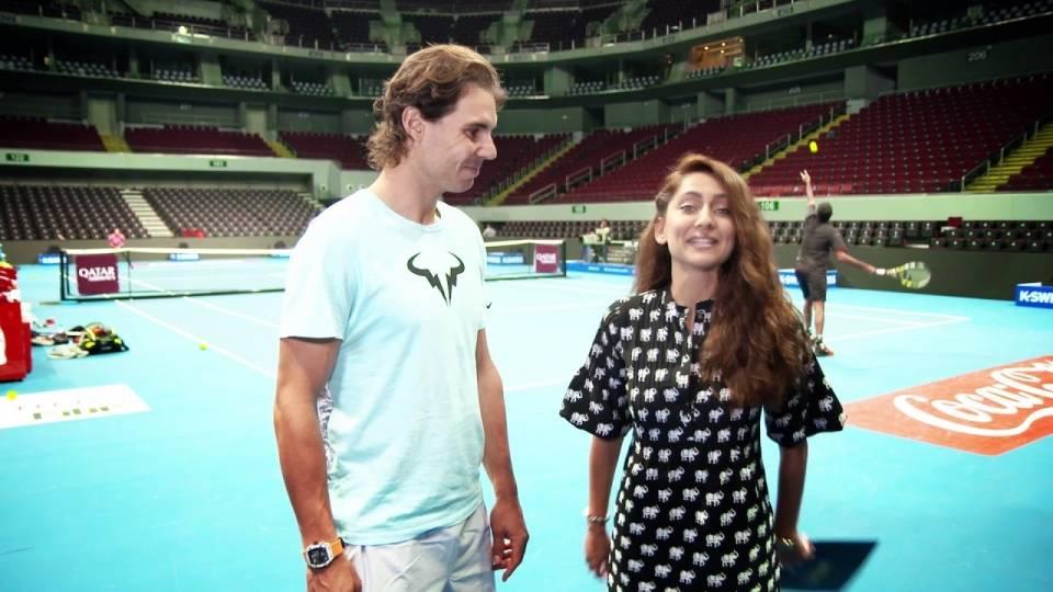 Divertida entrevistado a Rafa Nadal por la IPTL 2016