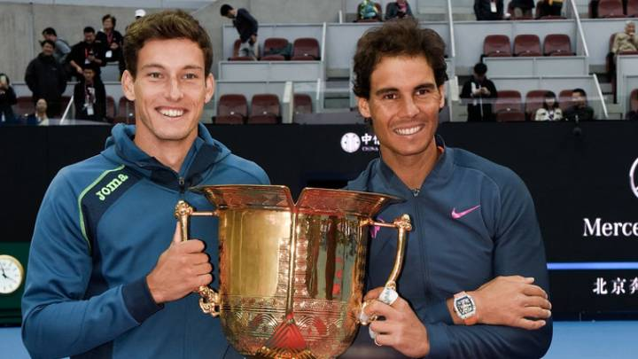 Pablo Carreño y Rafa Nadal se proclamaron campeones en el dobles del China Open 2016. (C) Etienne Oliveau/Getty Images AsiaPac