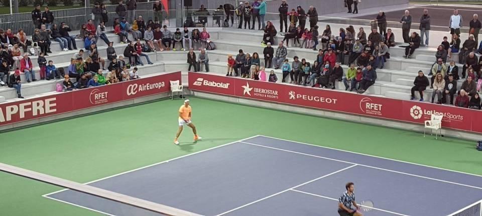 Rafa Nadal y Marc López debutando en el Campeonato Nacional 2016 contra el duplo Taberner-Zapata