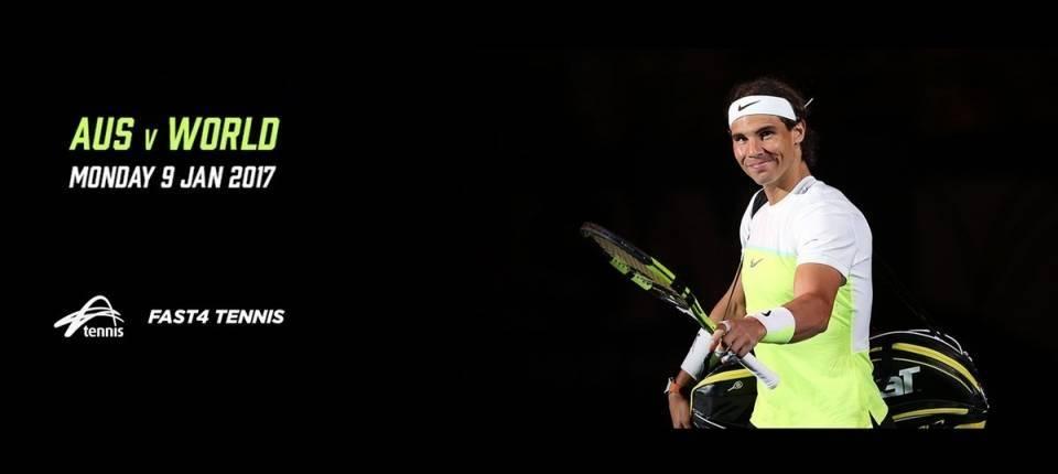 Rafa Nadal jugará de nuevo Fast4 en Aus vs World - Sydney 2017