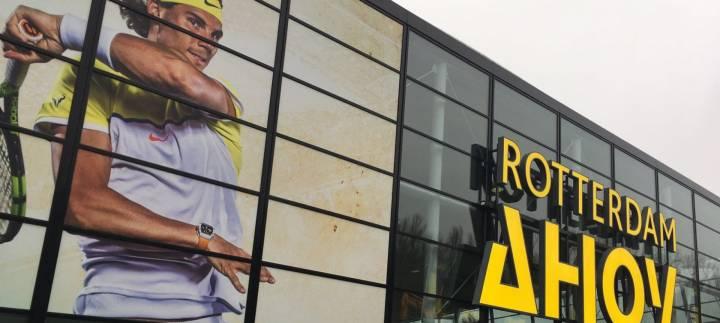 Así lucía Rafa Nadal en el cartel del ATP 500 de Rotterdam (C) ABN AMRO WTT ?via Twitter