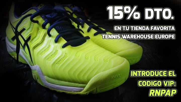 Recuerda utilizar nuestro código VIP RNPAP y obtén un 15% Dto. en tu tienda favorita Tennis Warehouse Europe (C) RNPAP