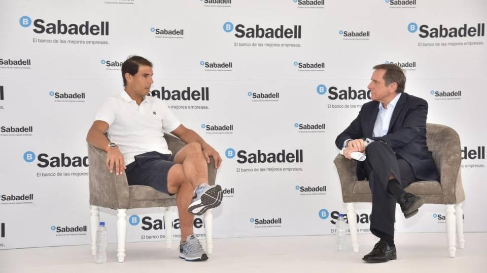 Rafa Nadal en un evento de Banco Sabadell en Acapulco (México)