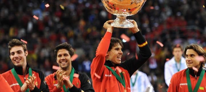 Última ocasión en que Nadal añadió a su palmarés una Copa Davis (la cuarta), fue en Sevilla 2011 contra Argentina (C) Jasper Juinen/Getty Images Europe