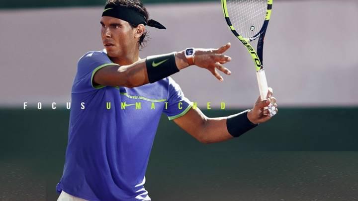 Camiseta con la que Rafa Nadal disputará Roland Garros 2017 (C) Nike