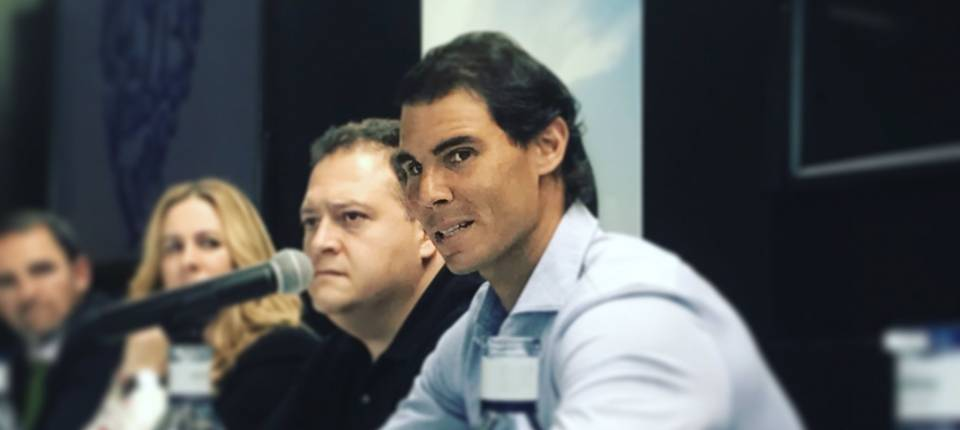 Rafa Nadal en rueda de prensa durante el Congreso LQDVI - 3 mayo 2017
