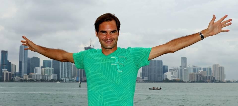 Así de feliz posaba Roger Federer el mismo día que derrotaba a Nadal en la final del Masters 1.000 de Miami 2017