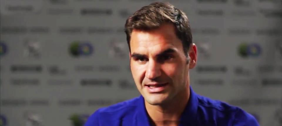 Roger Federer entrevistado en Movistar+ al comienzo de la gira de hierba 2017