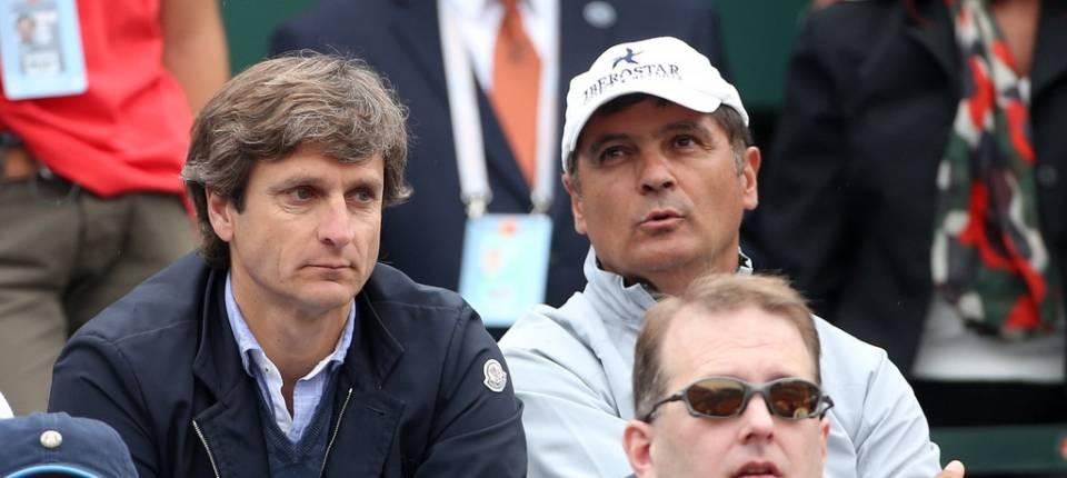 Carlos Costa y Toni Nadal durante Roland Garros 2013, Nadal vs Ferrer